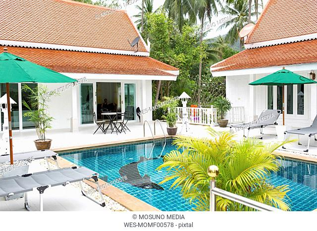 Thailand, holiday resort with swimming pool