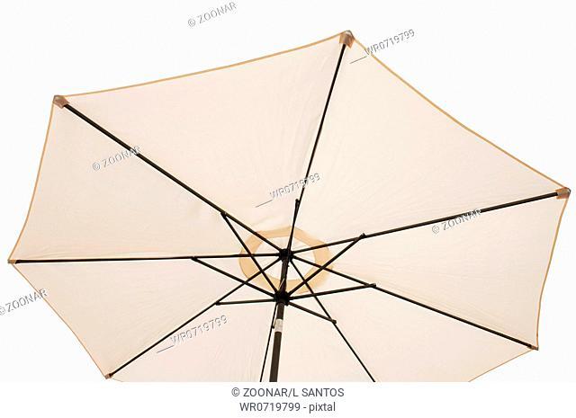 gorgeous beach or pool outdoor umbrella isolated on white background