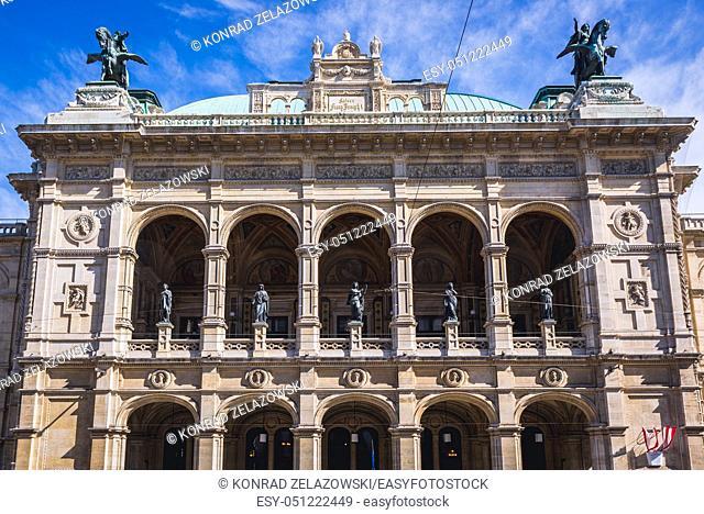 Vienna State Opera in Vienna city, Austria