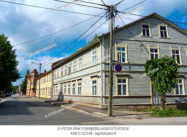 Tähe street, Karlova, Tarto, Estonia, Baltic States, Europe