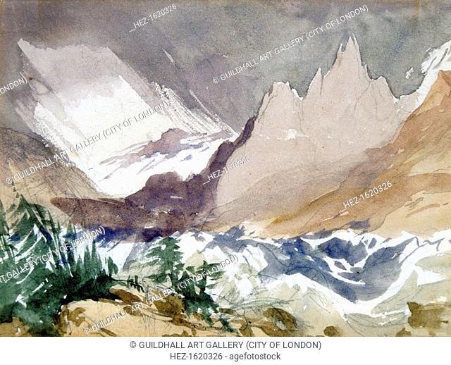 'Swiss Mountain Landscape', 19th century