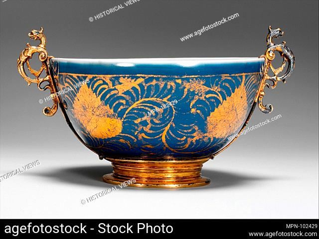 Bowl with Stylized Leaves. Period: Ming dynasty (1368-1644); Date: second half of the 16th century; Culture: China; Medium: Porcelain painted with cobalt blue...