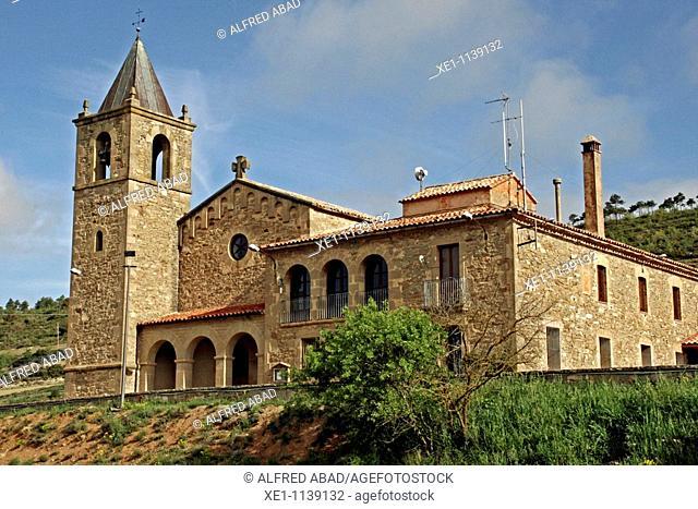 Santa Maria parish, Romanesque, La Molsosa, Solsones, Catalonia, Spain