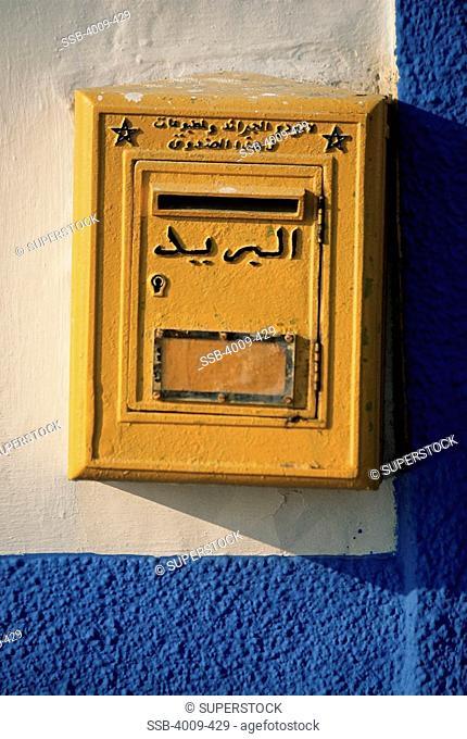 Close-up of a mailbox, Essaouira, Morocco