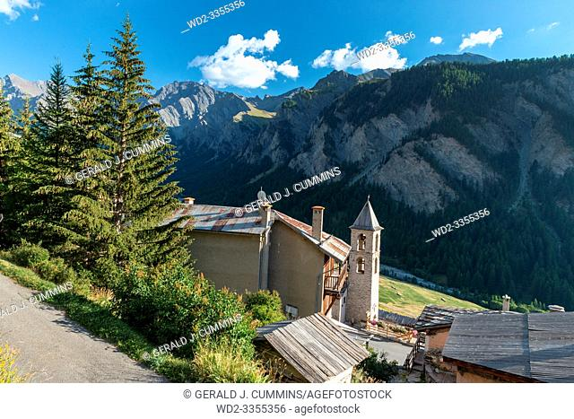 France, Saint-Véran, High Alps, 09/2016 The village of Saint Veran, the highest in France, On the list on the most beautiful villages of France
