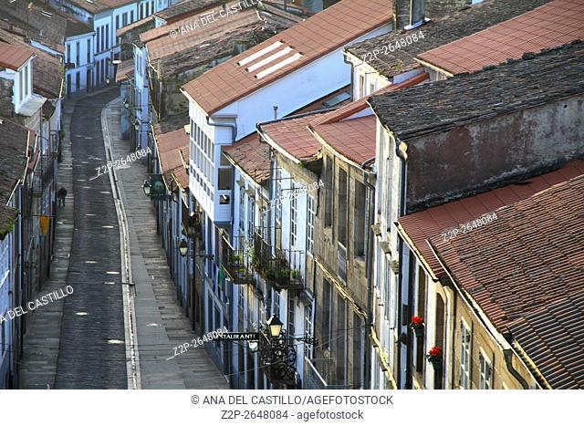 Rooftops of Santiago de Compostela Galicia Spain