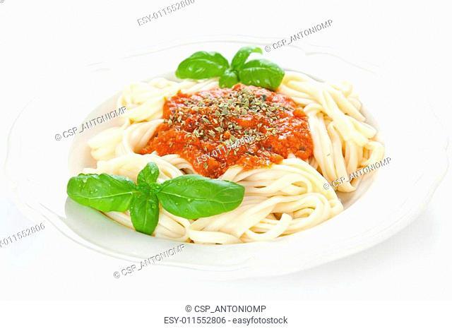 home made bolognese noodles