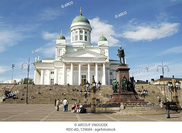 Cathedral architect Carl Ludwig Engel Senate Square Helsinki Finland
