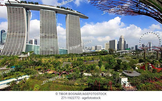 Singapore, Gardens by the Bay, Marina Bay Sands Resort