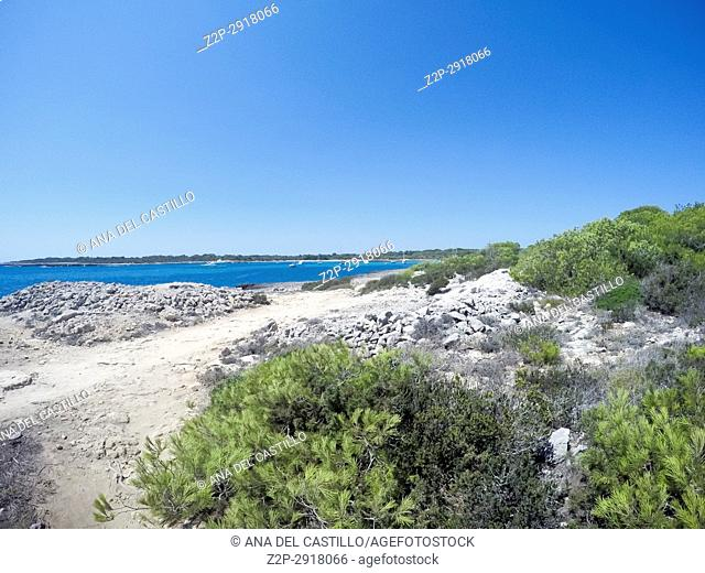 Son Saura beach Minorca Balearic islands Spain