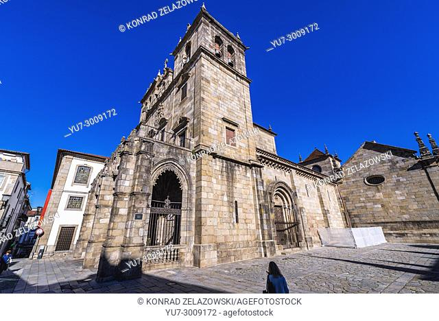 Cathedral in Braga, one of the oldest cities in Portugal, located in historical Minho Province, Portugal