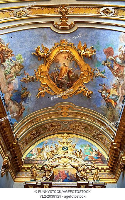 Baroque altar of the Oratario of the Fratenity of St. Anthony of Padua ( Orario dell Fraternita S. Antonia di Padova ) Assisi Italy