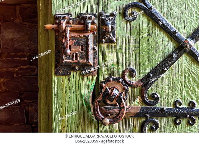 aged door, Ghent, Belgium