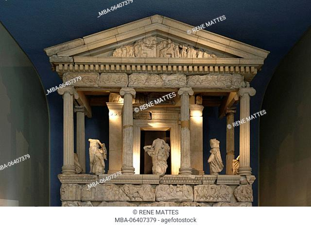 United Kingdom, London, Bloomsbury, British Museum, The Nereid Monument from Xanthos in South West Turkey, 5th century BC