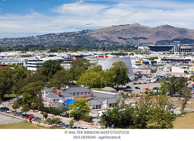 New Zealand, South Island, Christchurch, Latimer Square, elevated view