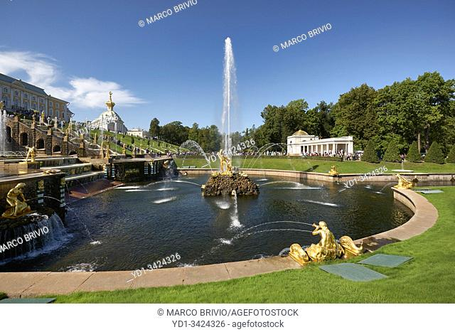 St. Petersburg Russia. Peterhof Palace