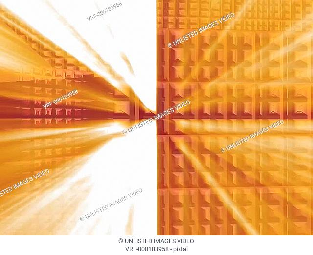 Orange Squares in Motion