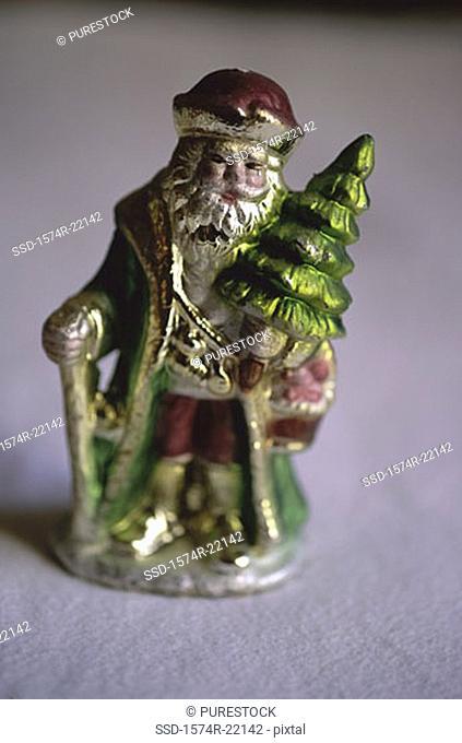 Close-up of a Santa Claus doll