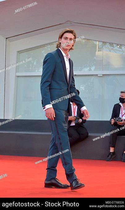 Italian actor Andrea Pittorino at the 77 Venice International Film Festival 2020. Nomadland red carpet. Venice (Italy), September 11th, 2020
