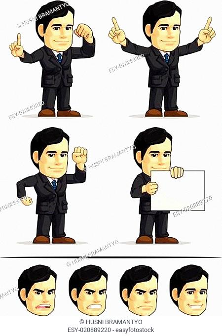 Businessman or Office Executive Customizable Mascot 2