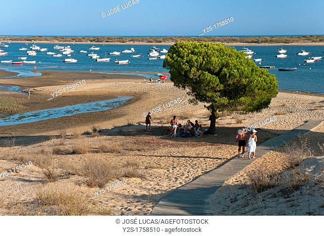 Natural Place Marshes of the river Piedras and Arrow of El Rompido, Cartaya, Huelva-province, Spain