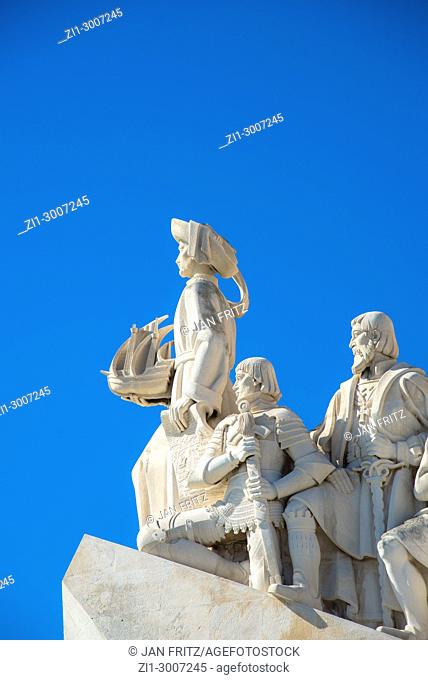 Detail of descobrimentos monument in Lisbon, Portugal
