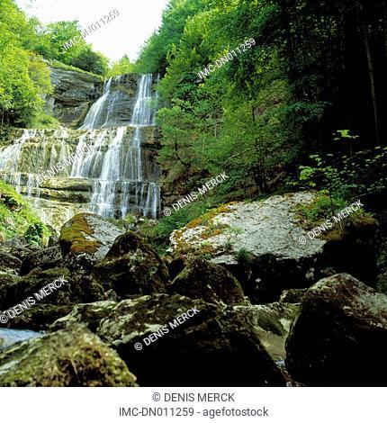 France, Franche Comte, cascade du hérisson