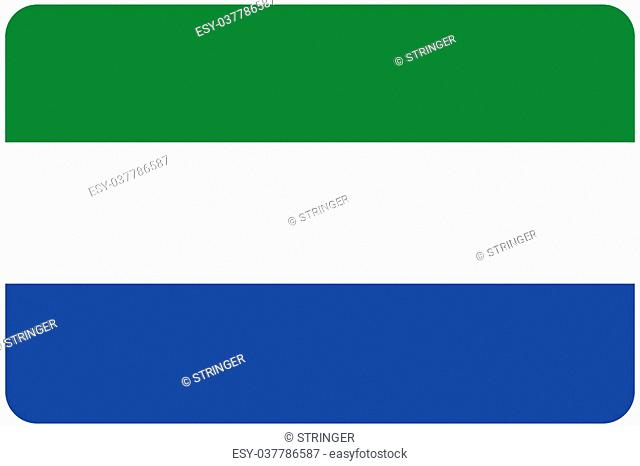 A Flag Illustration with rounded corners of the country of Sierra Leone
