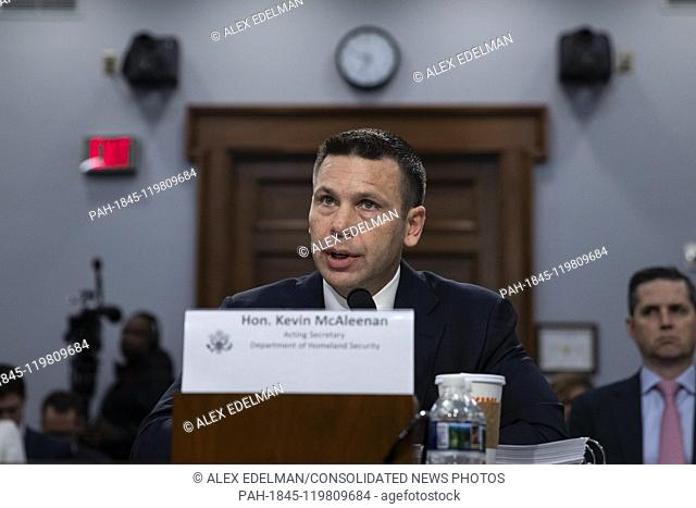 Acting Department of Homeland Security Secretary Kevin McAleenan testifies before the U.S. House of Representatives Appropriations Committee during a hearing on...