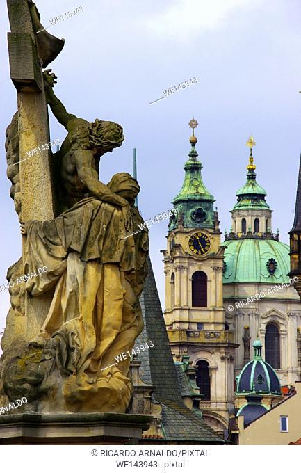 Statue at Charles Bridge, Prague