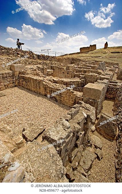 Exedra, Roman ruins of Valeria. Cuenca province, Castilla-La Mancha, Spain