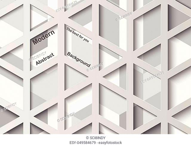 Abstract 3D vector graphic with copy space