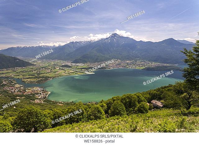 Lombardy, Italy, province of Como. Landscape of the Como lake, in the background Legnone peak e the Valtellina