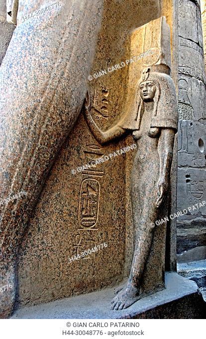 Luxor, Egypt. Temple of Luxor (Ipet resyt): the royal wife Nefertari Meretenmut