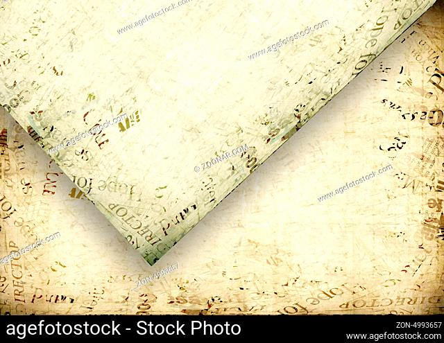 Close up of Grungy papers for background