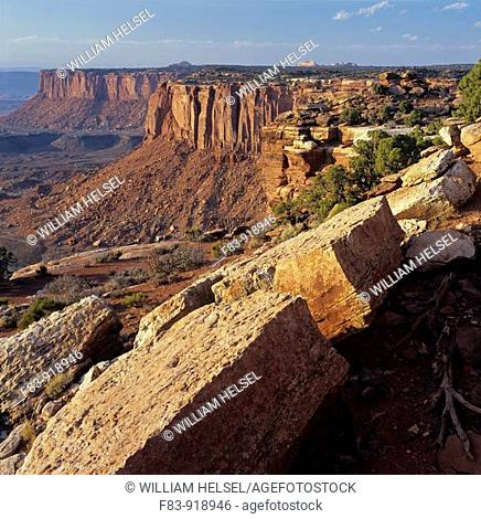 USA, Utah, Canyonlands National Park, Island in the Sky section, view from Orange Cliffs Overlook