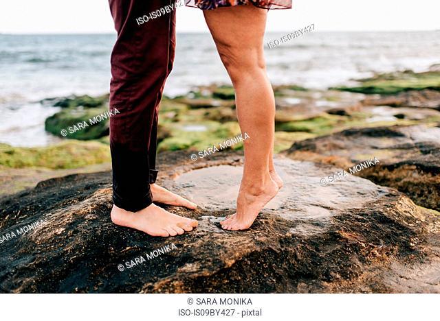 Couple enjoying beach