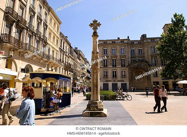 France, Gironde, Bordeaux, area listed as World Heritage by UNESCO, Place Saint Projet