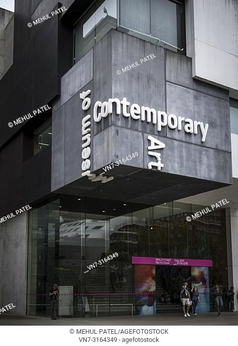 Entrance to the Museum of Contemporary Art Australia, the Rocks, Sydney, New South Wales, Australia