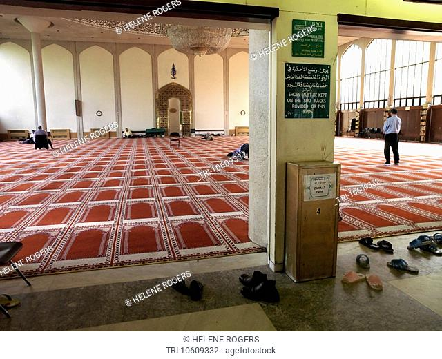 Main Prayer Hall Regents Park Mosque London England