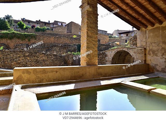 La Iglesuela del Cid, old public laundry. Alto Maestrazgo, Teruel province, Aragon, Spain