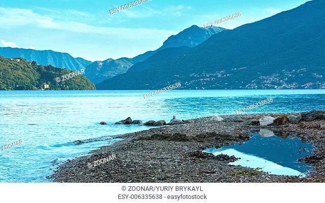 Lake Como (Italy) summer cloudy evening view