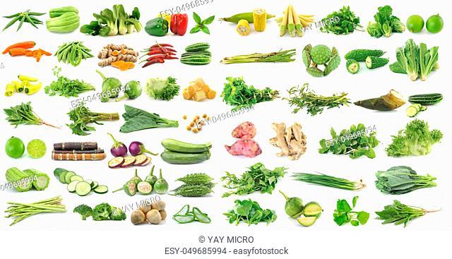 fresh vegetable on white background