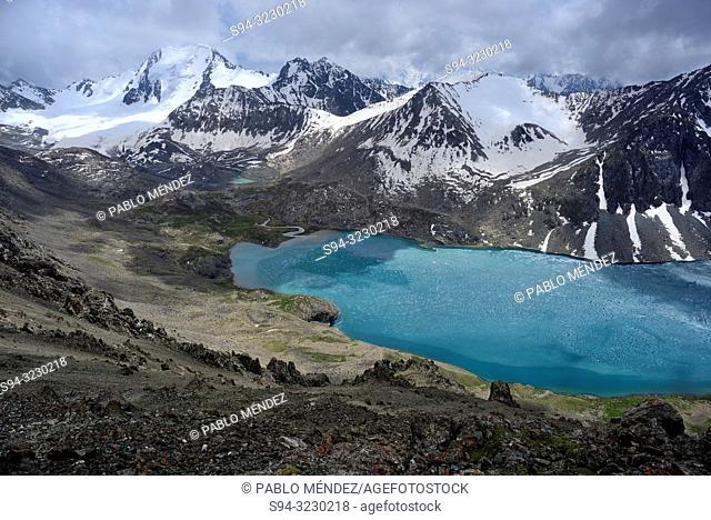 "Ala Kol lake ""3500 masl"" in Tien Shan mountains, Kyrgyzstan"