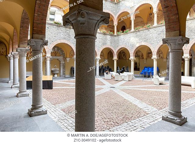 Palazzo Civico (Town Hall) courtyard, Bellinzona, Switzerland