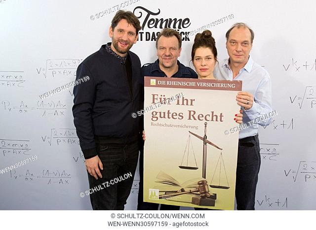 "Actors promoting the new Series """"Frau Temme sucht das Glueck"""" at Side Hotel Featuring: Sebastian Schwarz, Ronald Kukulies, Meike Droste"