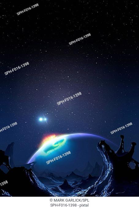 Artwork of Methuselah, the Genesis Planet