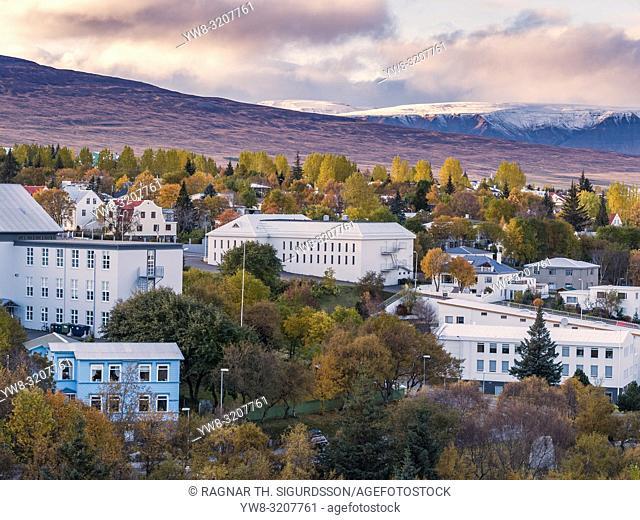 Akureyri in the Autumn, Northern Iceland