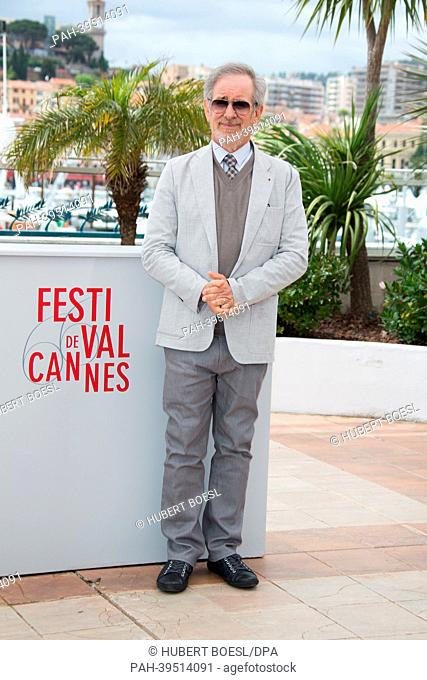 President of the Jury, US director Steven Spielberg, poses during the photocall of the Jury at the 66th annual Cannes Film Festival in Cannes, France