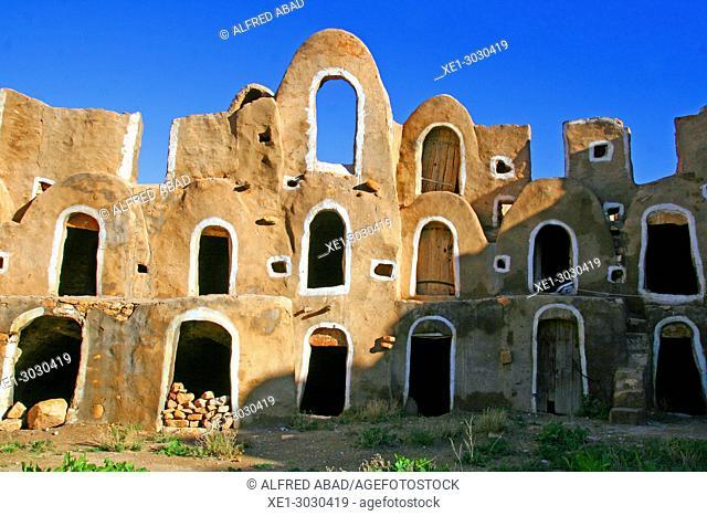 Ksar, traditional Berber architecture, Ezzahra, Tunisia